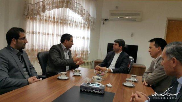 دیدار فرماندار با مسئول کمیته حقوقی ستاد انتخابات استان