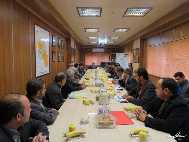 نشست استاندار با عوامل اجرایی، نظارتی و بازرسی ستاد انتخابات شهرستان رامیان