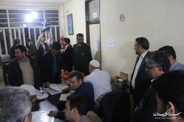 ورود اولین صندوق اخذ رأی به ستاد انتخابات شهرستان مراوه تپه