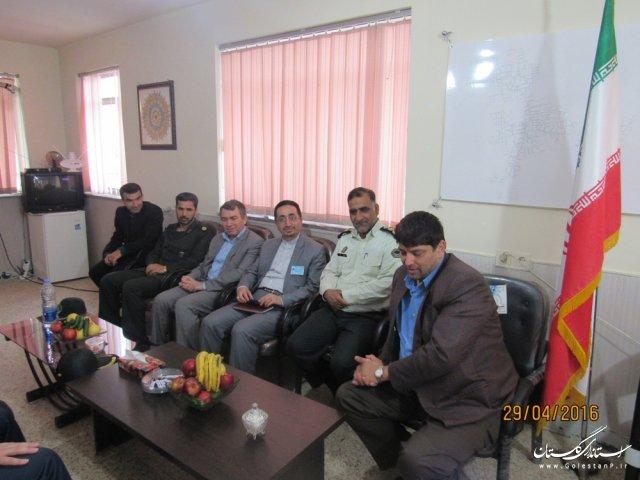 فرماندار گمیشان از ستاد انتخابات بخش گلدشت بازدید کرد