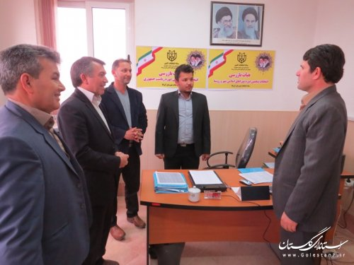 بازدید عضو هیات بازرسی انتخابات استان از دبیرخانه بازرسی شهرستان آق قلا