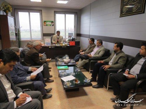 جلسه کمیته پشتیبانی ستاد انتخابات شهرستان آق قلا برگزار شد