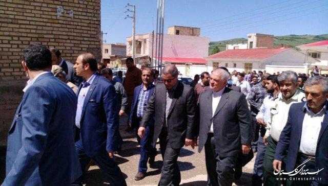 بازدید استاندار گلستان از روند برگزاری انتخابات در بخش کوهسارات شهرستان مینودشت